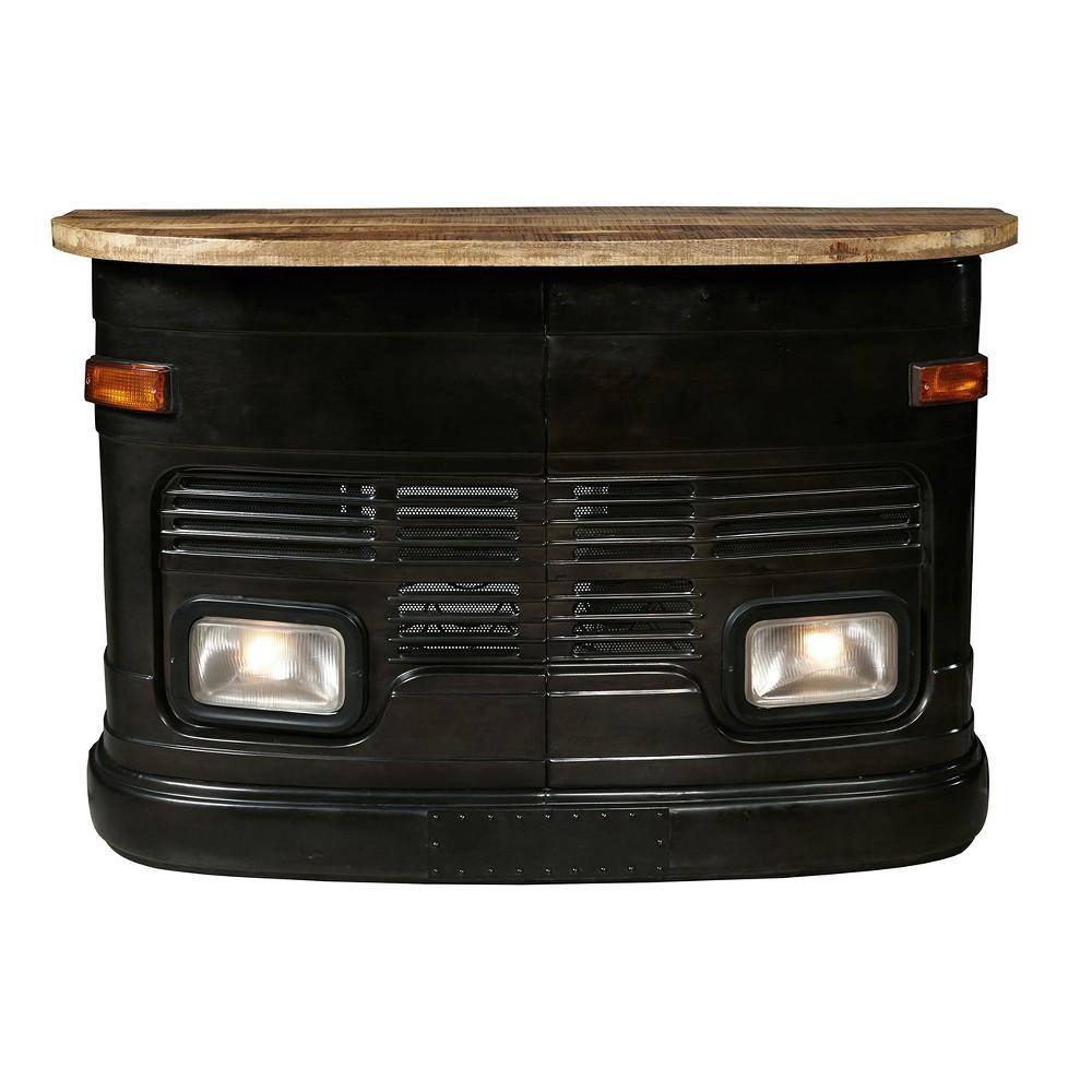 Industrial Vintage Truck Designed Bar - Black - Pulaski