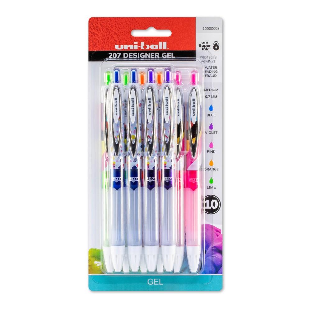 Image of 10ct Gel Pens 207 Designer .7 Medium Assorted Fashion Colors - Uni-Ball