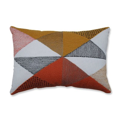 "11.5""x18.5"" Triangular Diamond Print Throw Pillow Orange/Gold - Pillow Perfect"