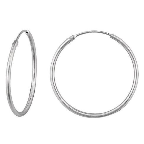 0497ce6ab521 Women's Endless Hoop In 10K White Gold (12mm) : Target
