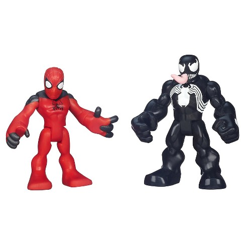 Playskool Heroes Marvel Super Hero Adventures Scarlet Spider-Man and Venom Figures - image 1 of 2