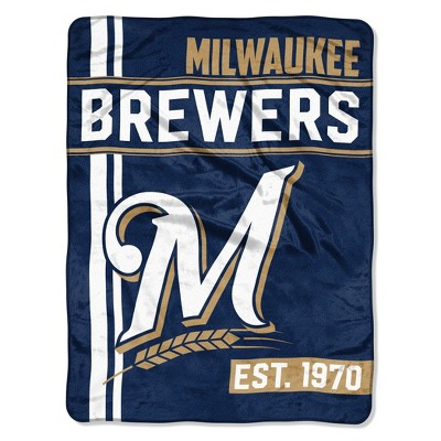 MLB Milwaukee Brewers Micro Fleece Throw Blanket