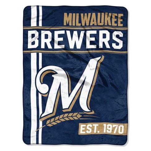 MLB Milwaukee Brewers Micro Fleece Throw Blanket - image 1 of 1