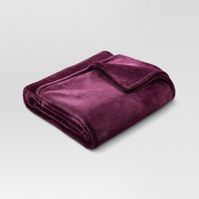 Microplush Bed Blanket (Full/Queen)Embassy Purple - Threshold™