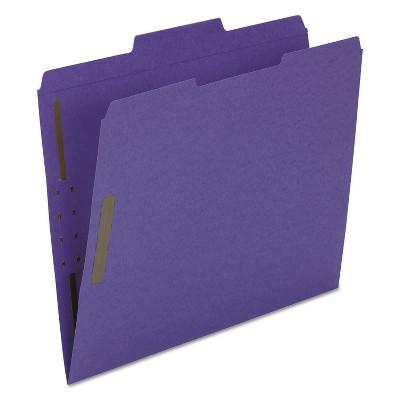 Smead® Top Tab Colored 2-Fastener Folders  1/3-Cut Tabs  Letter Size  Purple  50/Box 13040