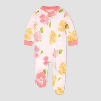 Burt's Bees Baby® Baby Girls' Hibiscus Sleep N' Play - Pink
