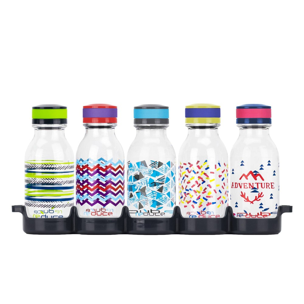 Image of Reduce 14oz 5pk Water Week Kids Water Bottle Set with Tray