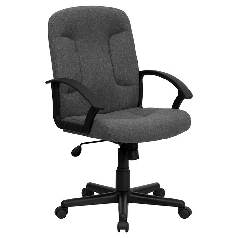 Executive Swivel Office Chair Gray - Flash Furniture - image 1 of 4