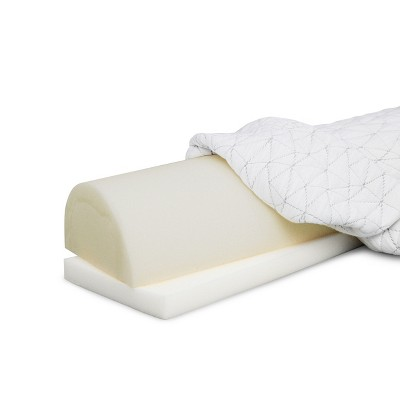 """Coop Home Goods 21""""x 8""""x 5"""" Four Position Adjustable Memory Foam Support Pillow - GREENGUARD Gold Certified - Lulltra Washable Cover - White (1 Pack)"""