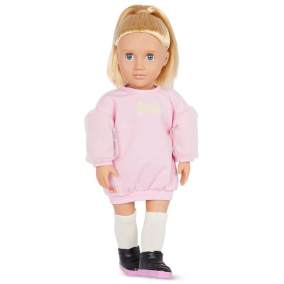 """Our Generation Reid with Pink Sweater Dress 18"""" Fashion Doll"""
