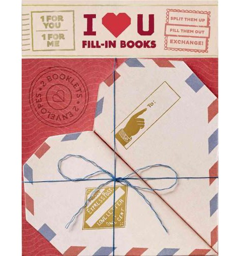 I Heart You : 2 Fill-in Booklet (Paperback) - image 1 of 1