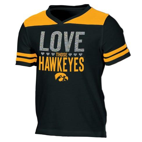 Iowa Hawkeyes Girls' Short Sleeve Team Love V-Neck T-Shirt XL - image 1 of 2