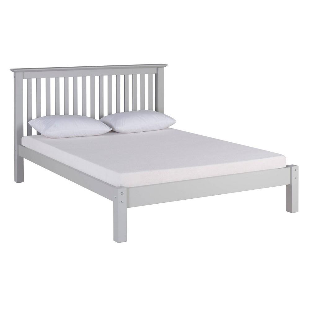 Full Barcelona Bed Dove Gray Bolton Furniture