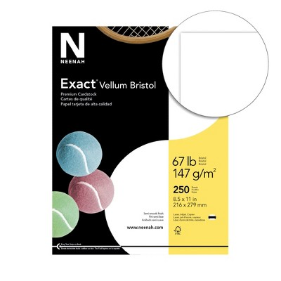 Exact Vellum Bristol Cardstock, 8-1/2 x 11 Inches, 67 lb, White, pk of 250