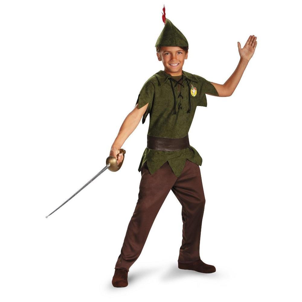 Image of Halloween Kids' Peter Pan Disney Toddler Costume - Medium, Men's, Green