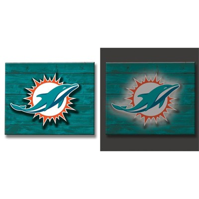 Evergreen Miami Dolphins Lit Wall Décor