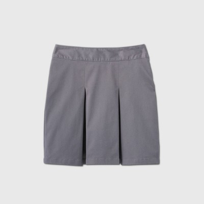 Girls' Stretch Uniform Pleated Twill Skorts - Cat & Jack™ Gray