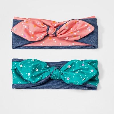 Girls' 2pk Bow Headwrap - Cat & Jack™