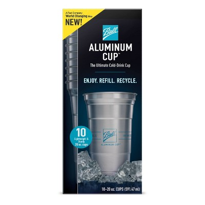 Ball Aluminum Cup Ultimate 100% Recyclable Cold-Drink Cups - 10ct/20oz