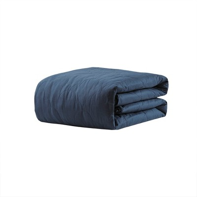 "60"" x 70"" 18lb Deluxe Cotton Weighted Blanket with removable and washable cover - Beautyrest"