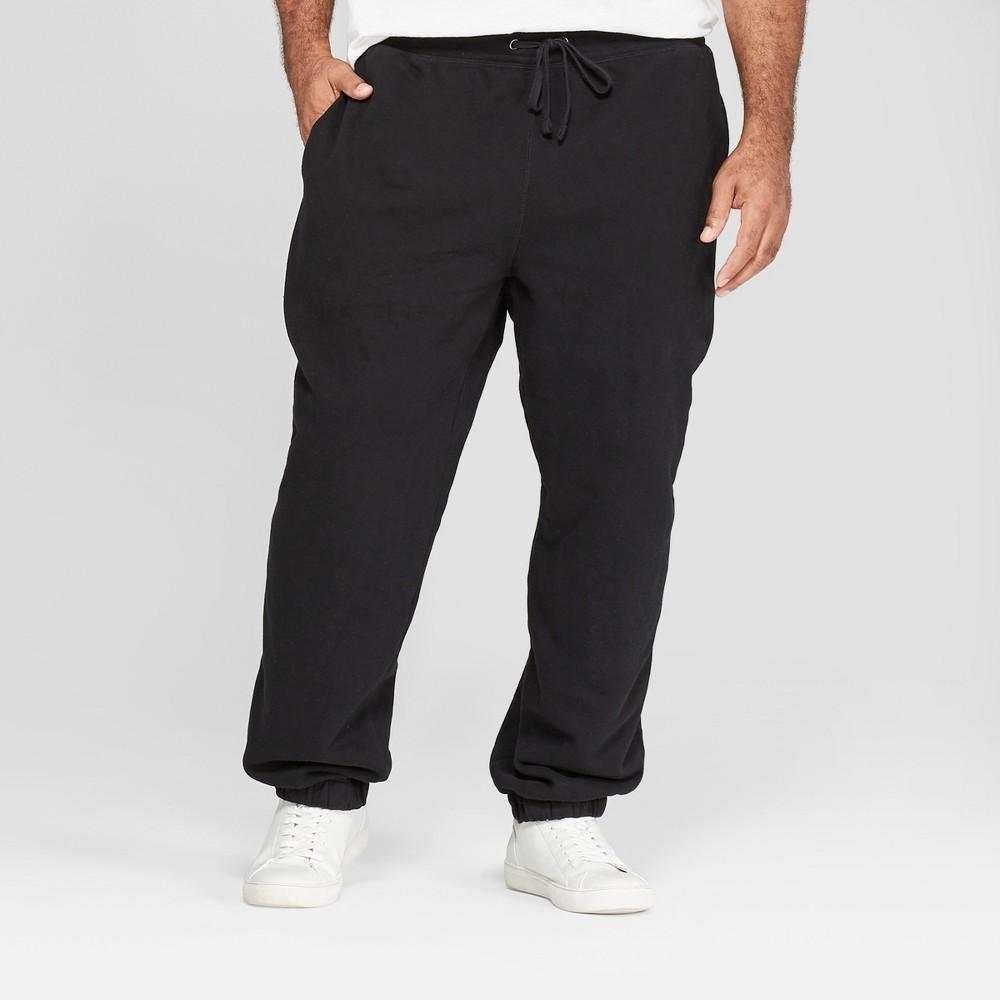 Men's Tall Fleece Cinched Jogger Pants - Goodfellow & Co Black MT