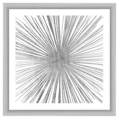 Silver Spark 18X18 Wall Art