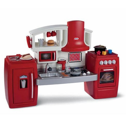 Little Tikes Cook N Grow Pretend Play Kids Toy Cooking Kitchen Play Set Red Target