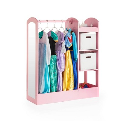 """42"""" Kids' See and Store Dress Up Storage Center Pink - Guidecraft"""