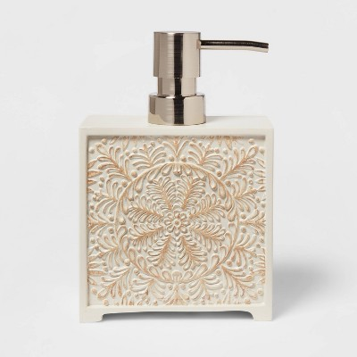 Carved Medallion Soap/Lotion Dispenser White - Opalhouse™