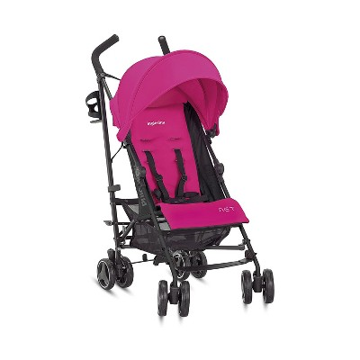 Inglesina Baby Infant Lightweight Foldable Portable Travel Net Stroller with Reclining Seat and UPF 50+ Protection Canopy, Caramella Pink