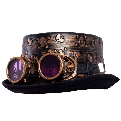Steampunk Hat and Glasses Halloween Costume Headwear