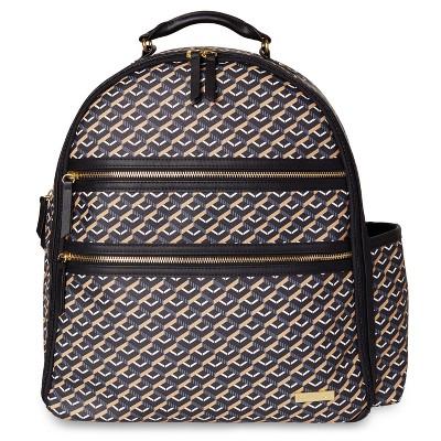 Skip Hop Deco Saffiano Backpack - Black