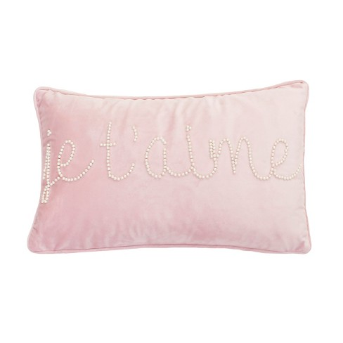 Jessie T'Aime Lumbar Throw Pillow Rose - Dcor Therapy - image 1 of 3