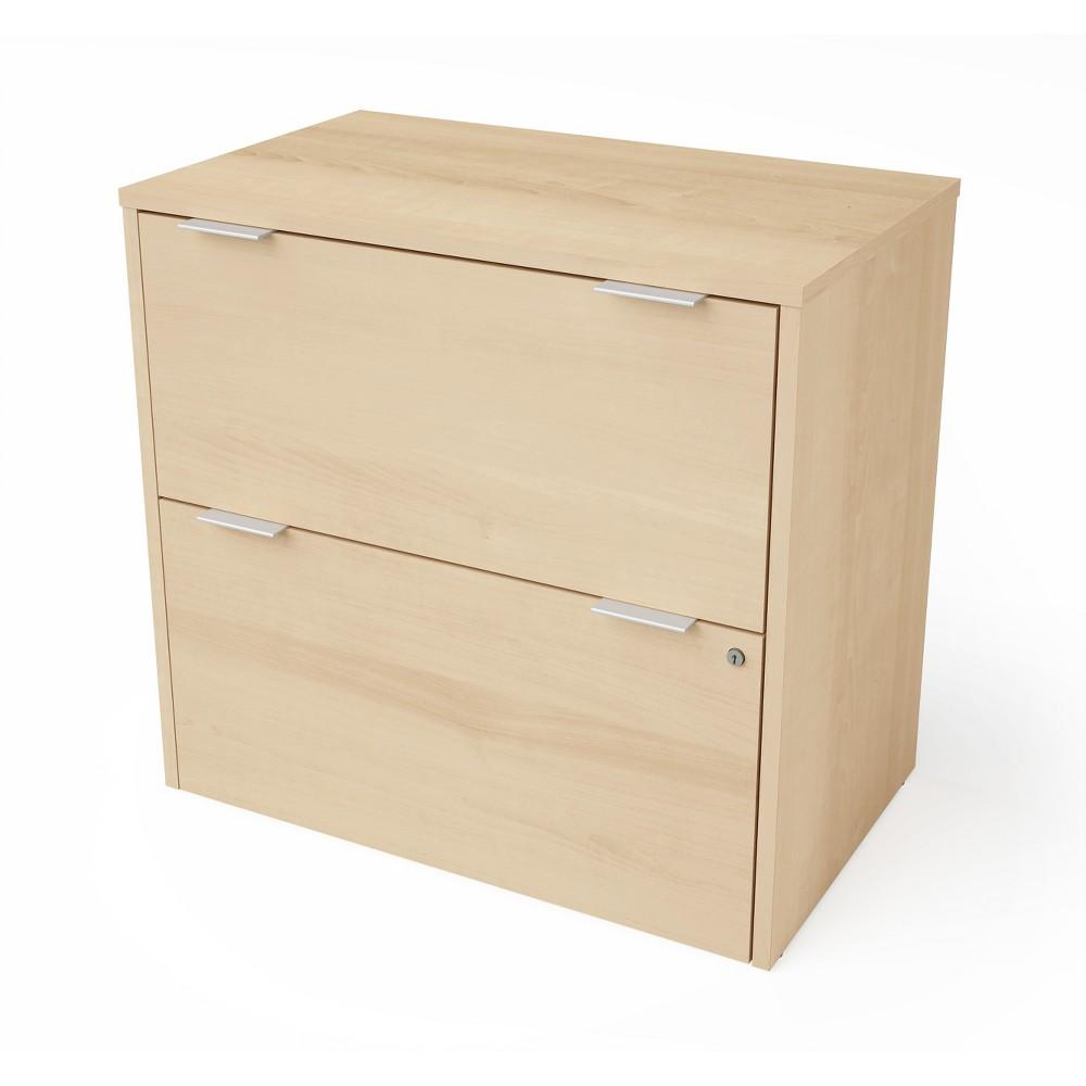 2 Drawer I3 Plus File Cabinet Light Brown - Bestar