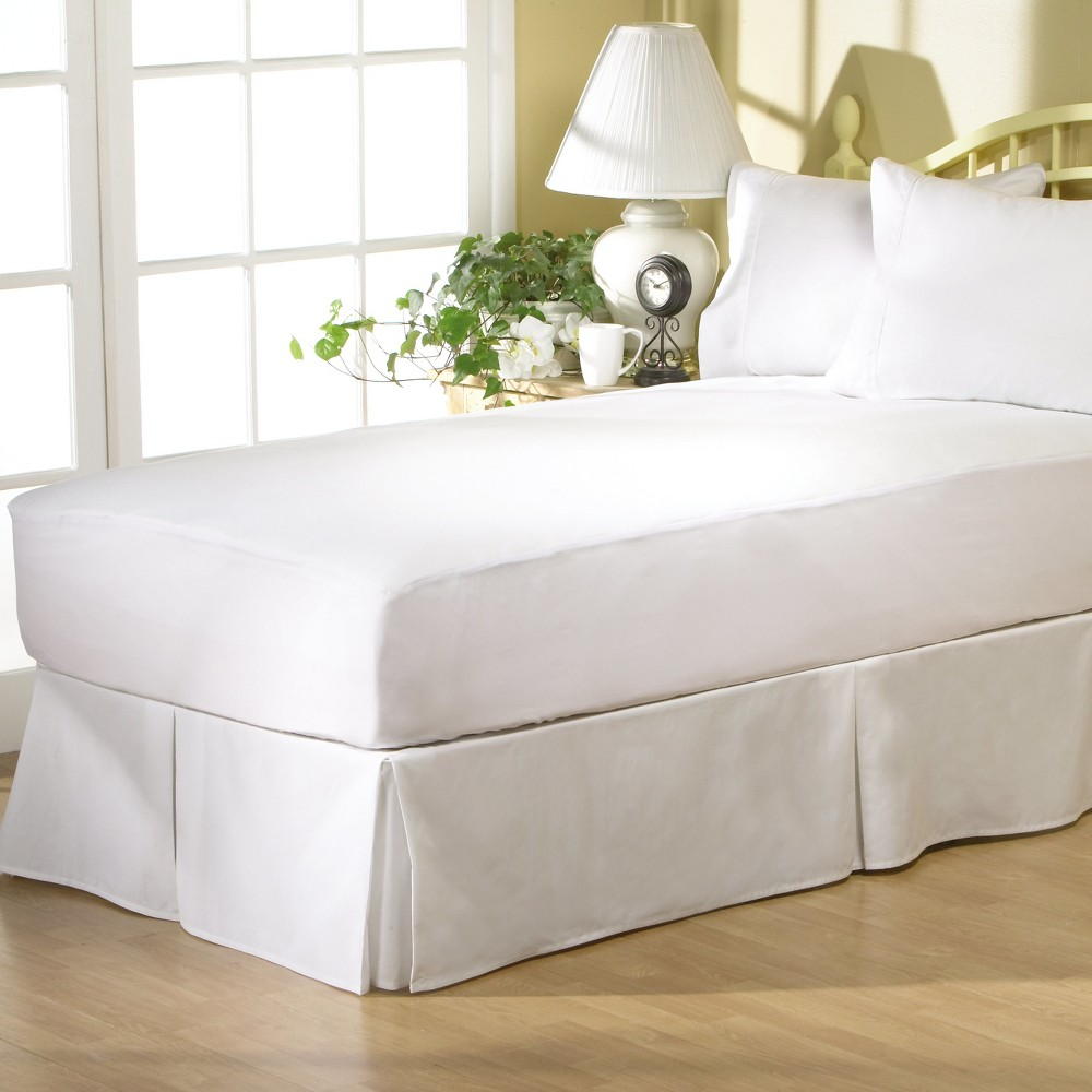 AllerEase Complete Allergy Protection Mattress Pad-White (King), White