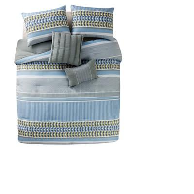 Blue Marcus Comforter Set (King)- VCNY®