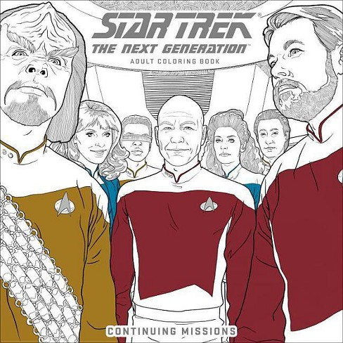 Star Trek: The Next Generation Adult Coloring Book-Continuing Missions - (Paperback) - image 1 of 1