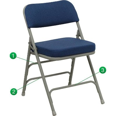 Riverstone Furniture Collection Fabric Folding Chair Navy Blue