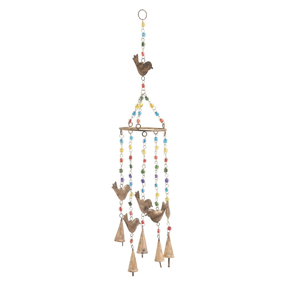 34H Iron Wind Chime - Olivia & May, Multi-Colored