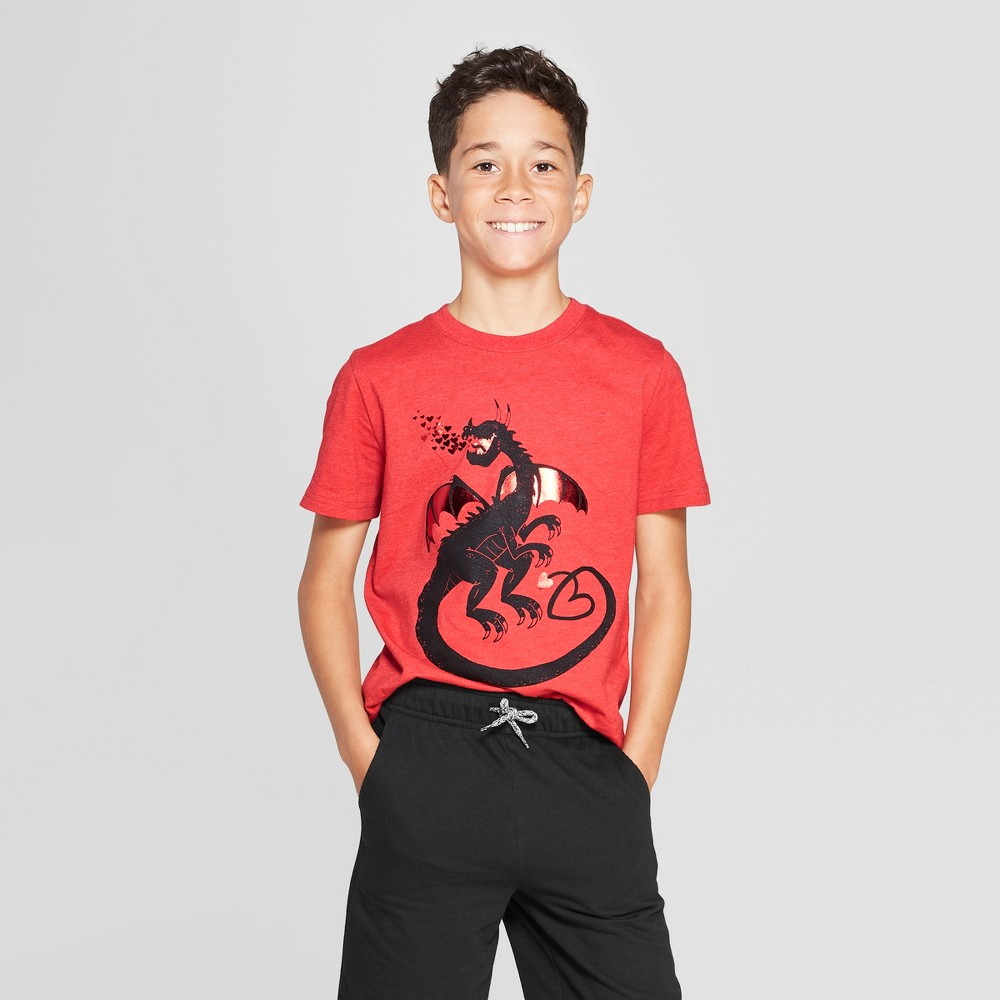 Boys' Short Sleeve Graphic T-Shirt - Cat & Jack Red XS