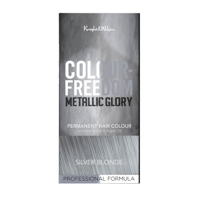 Knight & Wilson Color Freedom Metallic Glory Permanent Hair Color - Silver Blonde - 4.7 fl oz