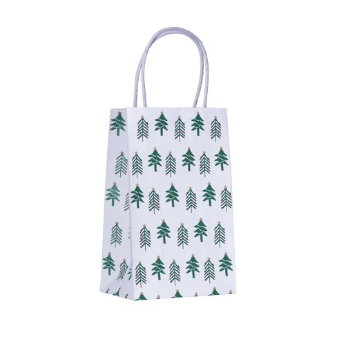 """Jr Tote """"Star On Rop Of Christmas Tree"""" White - Spritz™ - image 1 of 1"""