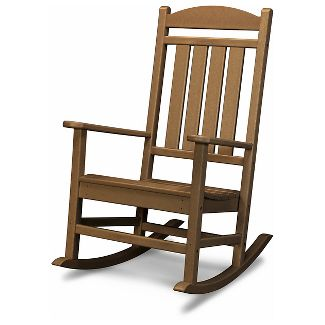 POLYWOOD Presidential Rocker - Brown