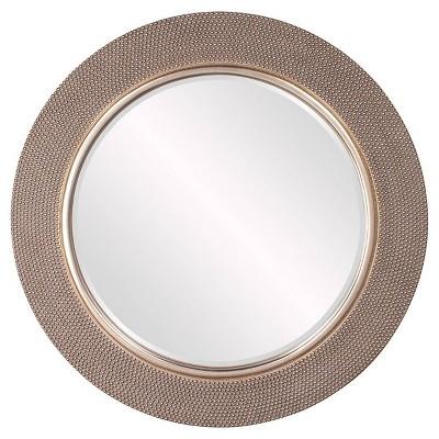 Round Yukon Decorative Wall Mirror Silver - Howard Elliott