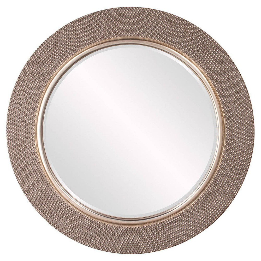 Image of Round Yukon Decorative Wall Mirror Silver - Howard Elliott