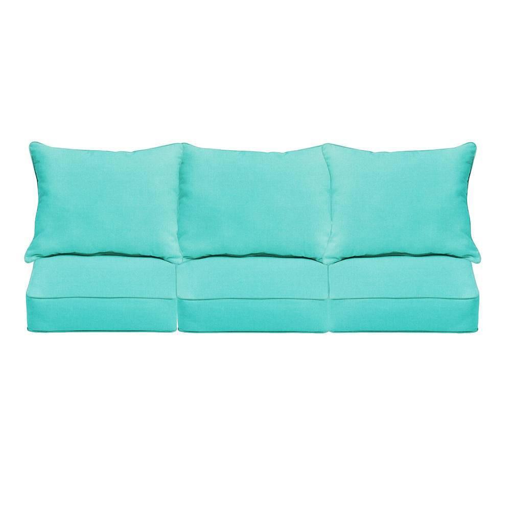 Sunbrella Canvas Outdoor Seat Cushion Aruba
