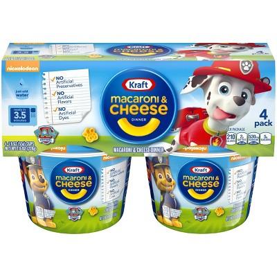 Kraft Paw Patrol Shapes Mac & Cheese Cups - 7.6oz/4pk