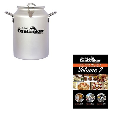 CanCooker CC-001-CN Convection 4 Gallon Steam Cooker for 20 People Bundle with CanCooker 100 Page 5 Meal Recipe Cookbook Volume 2