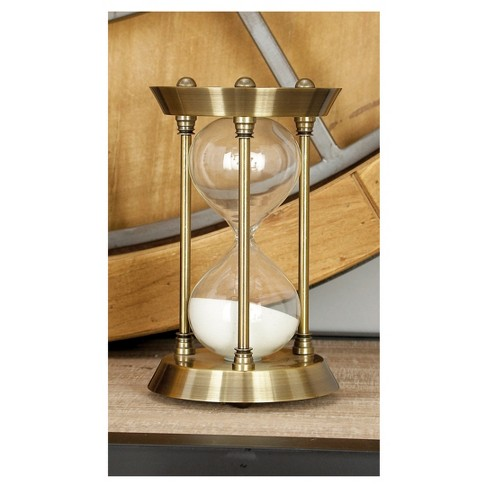 Classic Elegance Rustic Iron and Glass 15-Minute Sand Timer Hourglass (7