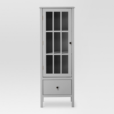Windham 56  Narrow Library Cabinet with Door/Drawer Gray - Threshold™